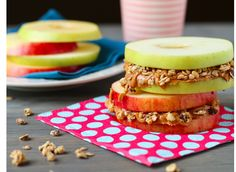 Apple Sandwiches -- how cute are these? And good for you, too!