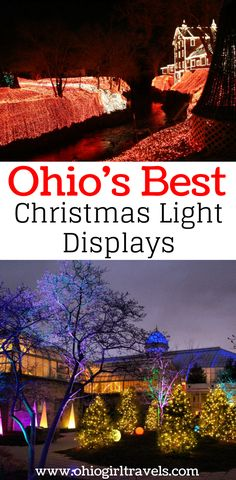 Are you looking for the best places to see Christmas lights in Ohio this year? If so, you've found them! Come see what our favorite Christmas light displays in Ohio are. It's separated by the different regions of Ohio so you can easily see what is near you. Make sure you save these places to see Christmas lights in Ohio to your Christmas board so you can find it later!