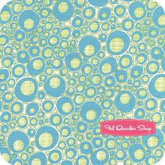 Mod Century Turquoise on Cream Pod Dots Yardage SKU# 30516-11 - Fat Quarter Shop