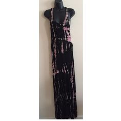 """Vintage Havana New Tie Dye Long Dress Vintage Havana New Tie Dye Long Dress.  New with tags.  Light weight soft material.  Slightly sheer so best over bikini or even as a night gown since the material is so soft and yummy to the skin.  Small. 95% rayon 5% spandex.  60"""" length.  Stretchy. Vintage Havana Dresses Maxi"""