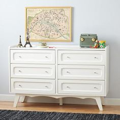 Land of Nod White Monarch Scalloped Dresser, would be awesome for my kiddos' room