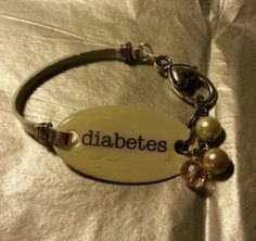Cute Medical Bracelet Allergy Diabetes Alert CUSTOM made by belmonili, $15.00  Can be customized with ANY wording!