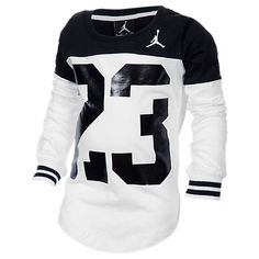 Girls' Jordan Big 23 Block T-Shirt - 353099 098 | Finish Line