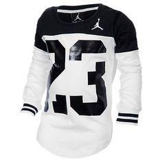Girls' Jordan Big 23 Block T-Shirt - 353099 098 | Finish Line