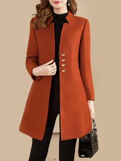 Collarless Plain Coat , Collarless Plain Coat , abrigos bell Source by anaislasjaramil. Hijab Fashion, Fashion Dresses, Fashion Coat, Dresses Dresses, 80s Fashion, Cheap Fashion, Long Dresses, Party Dresses, Style Fashion