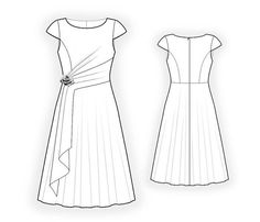 Lekala 4416 Dress Sewing Pattern PDF Download Free by TipTopFit