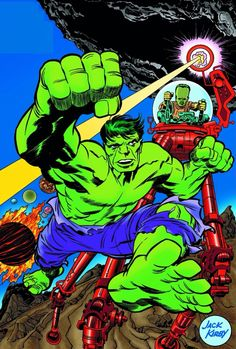 The Hulk vs. The Leader by Jack Kirby                                                                                                                                                      More