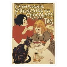 Chocolate and Cat Poster $9.00