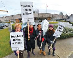 In the news: Local teachers - along with some supportive students - took to the picket line in March as part of the ongoing dispute between teachers and the province. The Province, Westminster, Students, Cinema, March, City, News, Movies, Cities