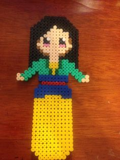 Mulan hama bead. Did this myself.