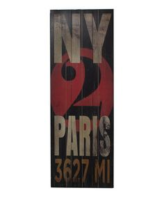 Look what I found on #zulily! 'NY 2 Paris' Wood Wall Art #zulilyfinds