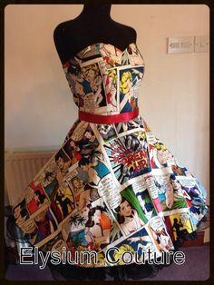 Comic Book 50's Dress, Rockabilly, Gothic, Lolita