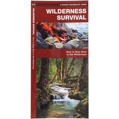 A pocket-sized folding guide on how to stay alive in the wilderness. Covers all the basics: first aid, building a shelter, signaling for help, foraging for food and water, fire-making, edible plants, and navigating through the wilderness. Pop it into your first aid kit as part of your backcountry essentials. Laminated for durability.