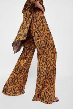 ee891aa3 Image 6 of SNAKE PRINT PANTS from Zara Skins Clothing, Snake Print Pants,  Animal