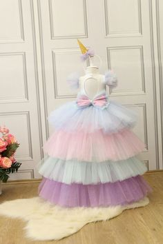 This stunning luxury handcrafted dress is perfect for birthday party, baby beauty peagant, photography and wedding Baby Girl Birthday Dress, Birthday Dresses, Little Girl Dresses, Girls Dresses, Flower Girl Dresses, Baby Tutu Dresses, Baby Frocks Designs, Kids Frocks, Fairy Dress