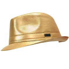 Color Dorado - Gold!!! Fedora✖️More Pins Like This One At FOSTERGINGER @ Pinterest✖️