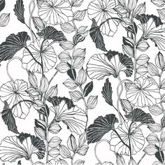 York Wallcoverings Leaf Outline Floral Botanical Wallpaper & Reviews | Wayfair