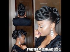 natural hair updo Chic Hairstyle For Ladies. They say a woman's crown is her hair; therefore, it shouldn't be strange that a lot of women pay great attention to their hair. Chic Hairstyles, Braided Hairstyles, Wedding Hairstyles, Natural Updo Hairstyles, Hairstyle Braid, Updo Styles, Curly Hair Styles, Natural Hair Updo, Natural Hair Styles