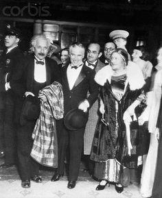 City Lights (City Lights, 1931)  Albert Einstein, Charles Chaplin and Elsa Lowenthal. (Einstein's wife)