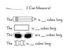 measuring with cubes clipart - Google Search