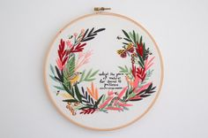 Pace of Nature is one of three stunning designs illustrated by Lauren Merrick (that have been rolled out three months) and turned into an embroidery pattern by Thread Folk for the collaborative project, the Artist Series. This is a beautiful stitching project with the downloadable PDF