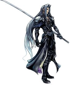 Sephiroth from the Final Fantasy Series - Game Art, Informations, Cosplays and Final Fantasy Vii, Final Fantasy Tattoo, Artwork Final Fantasy, Final Fantasy Collection, Final Fantasy Characters, Fantasy Warrior, Fantasy Men, Fantasy Images, Kingdom Hearts Ii