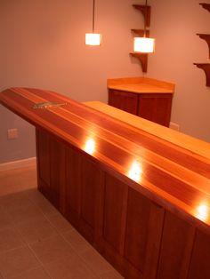 8 39 Redwood Surfboard Bar Our Customer Wet Sanded