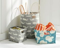 Printed Canvas Storage Bins Design