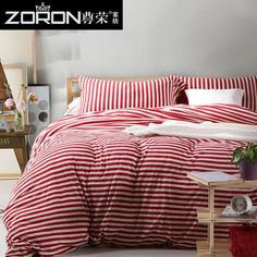 2016 New 100% Cotton Authentic upscale four Bedding Set stripe pastoral Duvet cover Full/Queen/King size Bedspread Bed linen