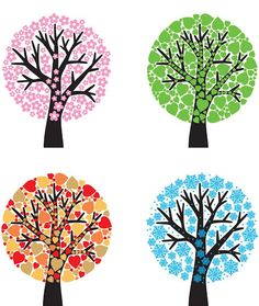 ARBRES 4 ESTACIONS - Anna Alonso - Picasa Web Albums Fall Crafts, Diy And Crafts, Crafts For Kids, Drawing For Kids, Art For Kids, Season Calendar, Origami, Writing Pictures, Hand Painted Ceramics