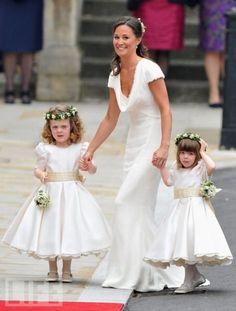 love, love, love. Pippa's dress equally as pretty.