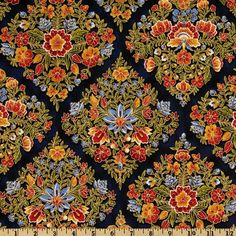 Dutch Cottage Bouquet Spice - Discount Designer Fabric - Fabric.com