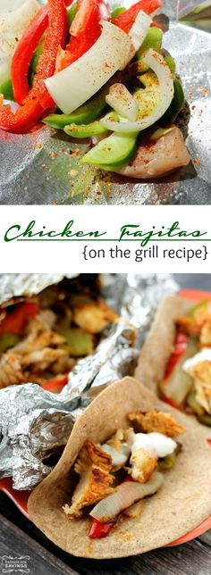 Chicken Fajitas on the Grill Recipe! Easy On The Grill Recipes for new Grilling Ideas!