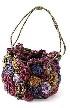 Crochet Bags 1000 and 1 model knitted bags))). Discussion on LiveInternet - Russian Service Online Diaries - Bag Crochet, Crochet Shell Stitch, Freeform Crochet, Crochet Handbags, Crochet Art, Crochet Purses, Crochet Crafts, Crochet Clothes, Crochet Flowers