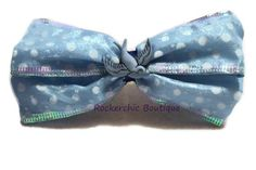 Big Polka Dot Hair Bow - Blue, White, Glitter, Sparrow - Retro, Sweet Lolita, Rocker Chic, Glam Rock, Pin Up Girl, Womens Bow, Rockabilly via Etsy