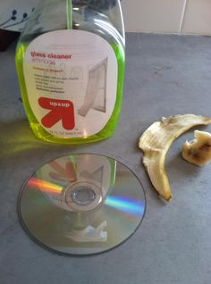 Tip of the Week - A step-by-step guide to using a banana to fix scratched dvd's