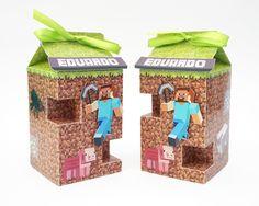 Minecraft - Caixa Milk - Lembrancinha - Festa                              …