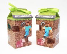 Minecraft - Caixa Milk - Lembrancinha - Festa