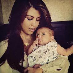 Kourtney Kardashian and her daughter Penelope | CelebrityBabyScoop.com
