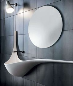 Wing Wall Sink - If you have been looking for ways to make your bathroom the most interesting room in your house, this Wing Wall Sink will be exactly what you need ...