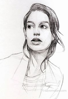 David (Dave) Malan, female portrait drawing, 2015. davemalan.com