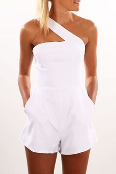 One Night Playsuit White