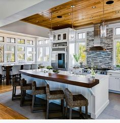 Kitchen LOOK AT THOSE CEILINGS OMG NICE KITCHEN SAVED BY WENDY SIMMONS