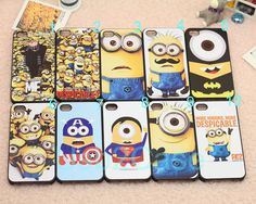 Cartoon Cute Spider man Captain America minion cover for Apple i phone iphone 4 4s 5 5s 5c case samsung galaxy S3 S4 S5 note 2 note 3 cases on Etsy, $0.20