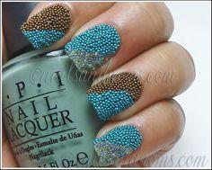 Striped Caviar by NailsandNoms #nail #nails #nailart