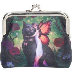 Cat and Fairy Coin Purse by James Ryman Orange And Black Butterfly, Butterfly Wings, Fall Hair, Crazy Cats, Flower Crown, Purses And Bags, Coins, Coin Purse, Fairy