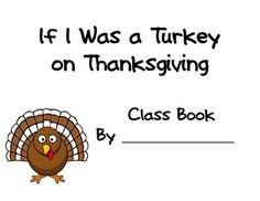 If I was a Turkey... - Kimberly Cavett - TeachersPayTeachers.com