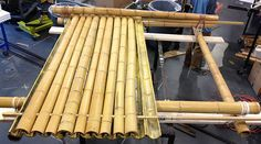 Bamboo Roofing | Components of the Thayer students' design include a bamboo roof and ...