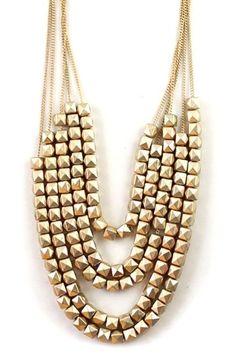 Golden Multi Layer C #jewelry 3fashion fashion jewelry 2014