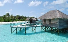 bungalows in the Maldives Maldives Beach Resort, Maldives Bungalow, Beach Resorts, Maldives Wallpaper, Beach Wallpaper, Bungalow On The Beach, Beach House, Bungalows, Outre Mer